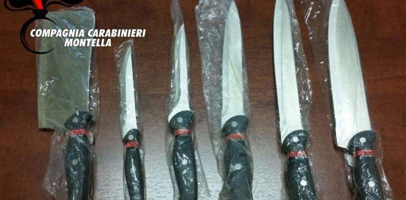 Sorpresi con numerosi coltelli, denunciati due eclanesi