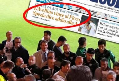 Spezia-Avellino, quello che il campo non ha detto: cronaca della bagarre in tribuna