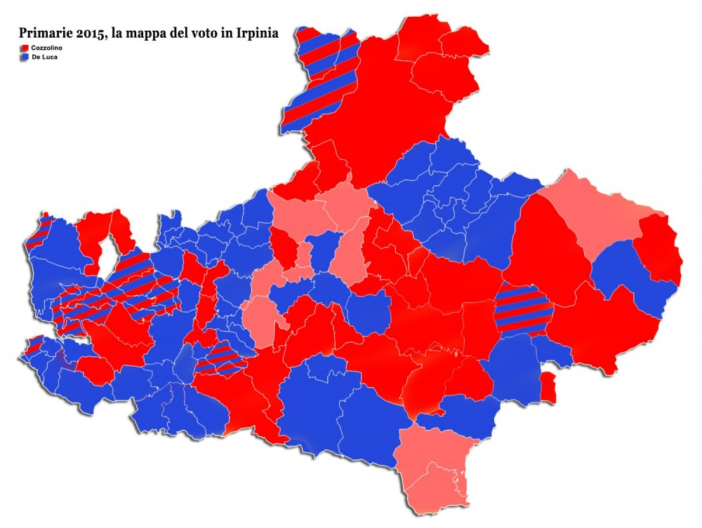 Primarie Pd 2015 Mappa Irpinia
