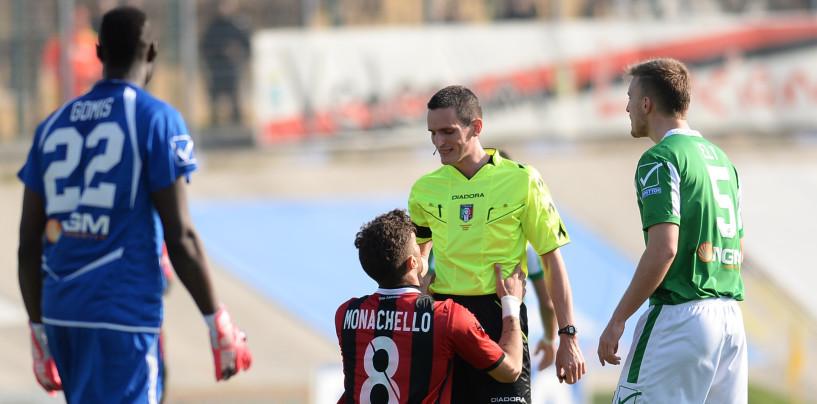 Avellino Calcio – A Livorno arbitra Minelli: con lui bilancio in attivo per i lupi