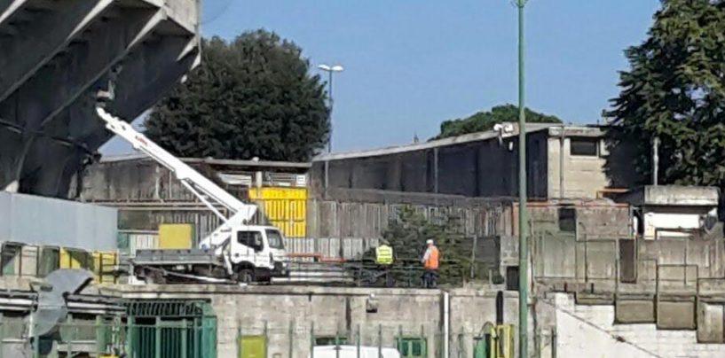 FOTO/ Stadio Partenio, iniziati i lavori: spiraglio per la riapertura della Terminio
