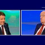 """Renzi-De Mita, scintille in TV. Il leader di Nusco: """"Io cambio partito? Tu amici"""""""