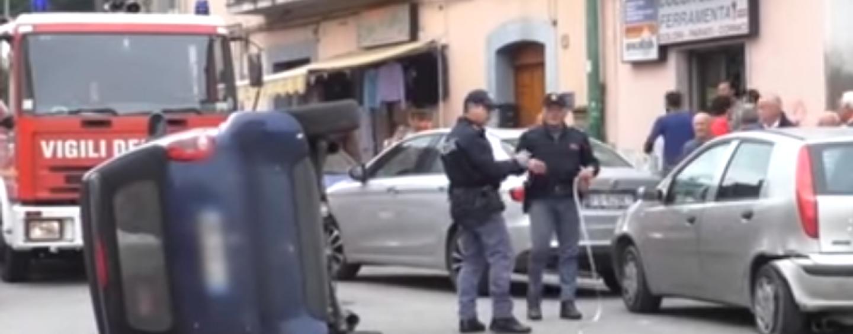 Spettacolare incidente in Rione Libertà a Benevento: traffico in tilt
