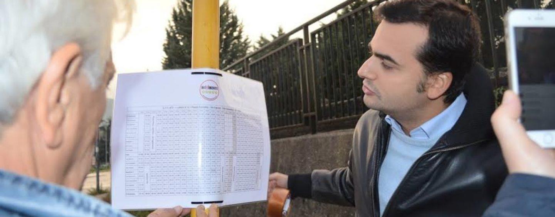 """Affissione orari bus urbani, Sibilia: """"La la Cti-Ati toglie le nostre tabelle ma andiamo avanti"""""""