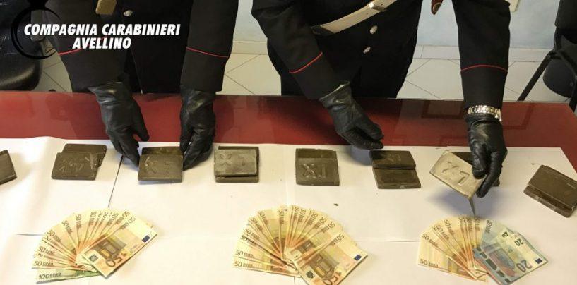 Droga: due arresti nell'avellinese, sequestrati anche 2.500 euro in contanti