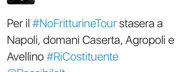 Pippo Civati in Campania: perchè No al referendum col #NoFritturine tour
