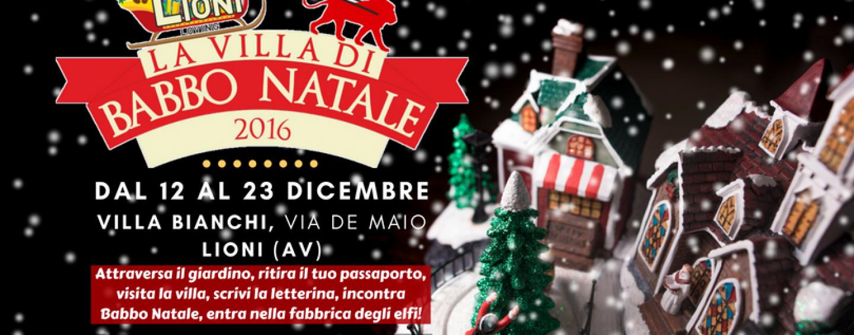 """A Lioni le letterine di Natale si consegnano nella """"Villa di Babbo Natale"""""""