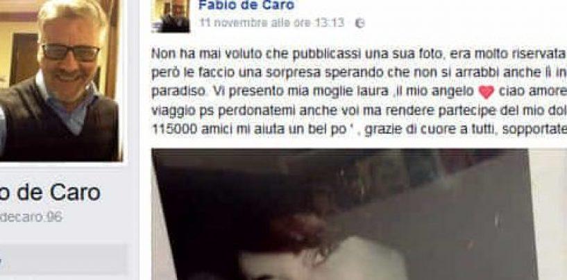 """Lutto per Fabio De Caro, il Malammore di Gomorra piange la moglie: """"Ciao amore, buon viaggio"""""""