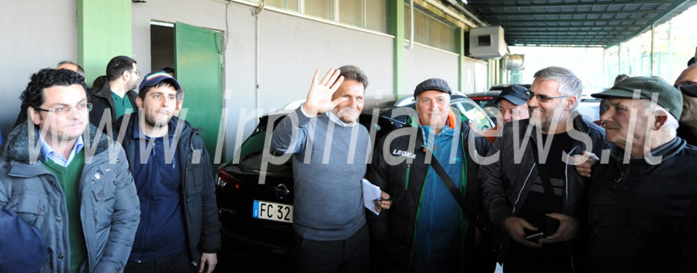 Avellino Calcio – Montemarano con Novellino: il sindaco Palmieri allo stadio