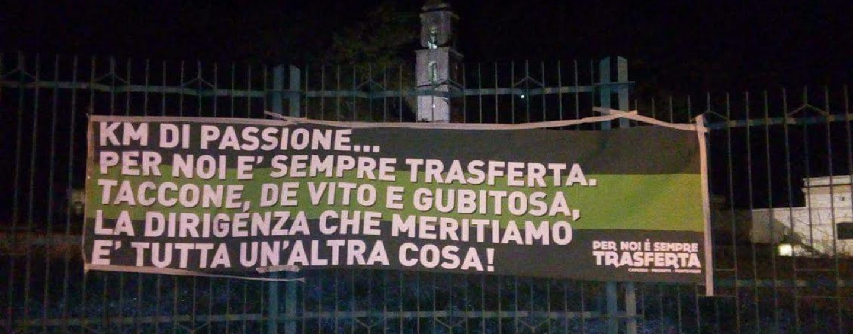 Avellino Calcio – Tifosi delusi: spunta uno striscione nella notte