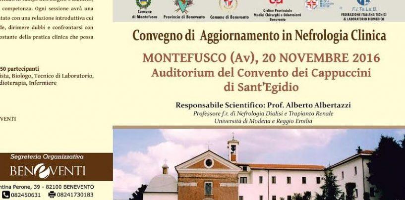 Montefusco, primo convegno di Nefrologia Clinica con il dott. Albertazzi