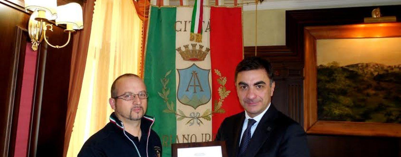 Ariano Irpino, Gambacorta riceve attestazione di amicizia del Sindaco Mc Mahon della Città di Media