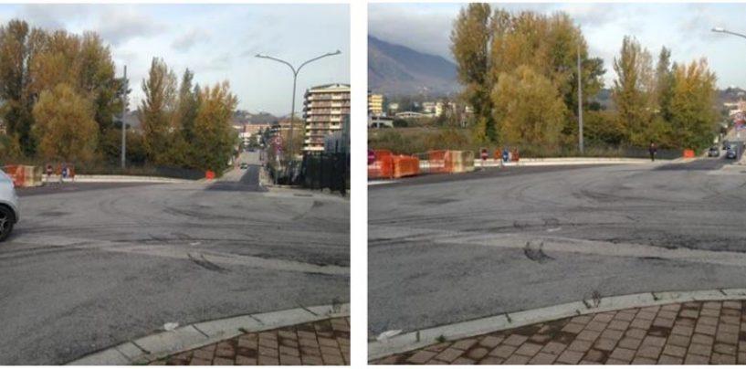 FOTO/ Riapre Via Moccia, collegamento strategico tra gli assi cittadini ed il campus scolastico