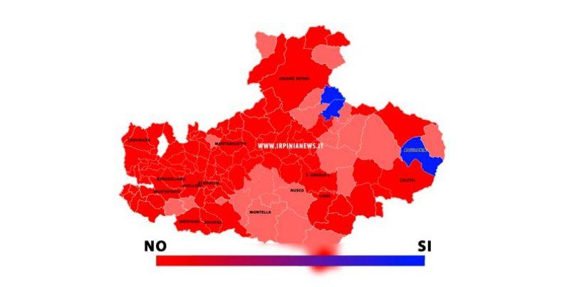 INFOGRAFICA/ Referendum, la mappa del voto in provincia di Avellino