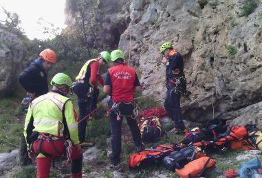 Climber trovato senza vita in parete