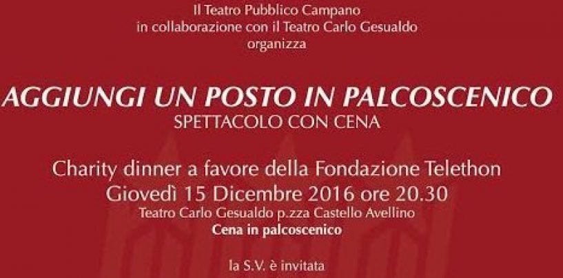 """""""Aggiungi un posto in palcoscenico"""",  al Teatro Gesualdo va in scena la solidarietà"""