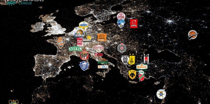 Champions: la geografia della fase playoff, Scandone nell'urna di Ginevra