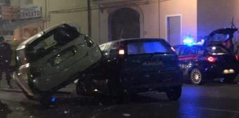 Minicooper contro Punto: spettacolare incidente in Valle Caudina