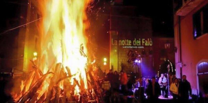 A Nusco la Notte dei Falò: rito che si ripete da quattro secoli