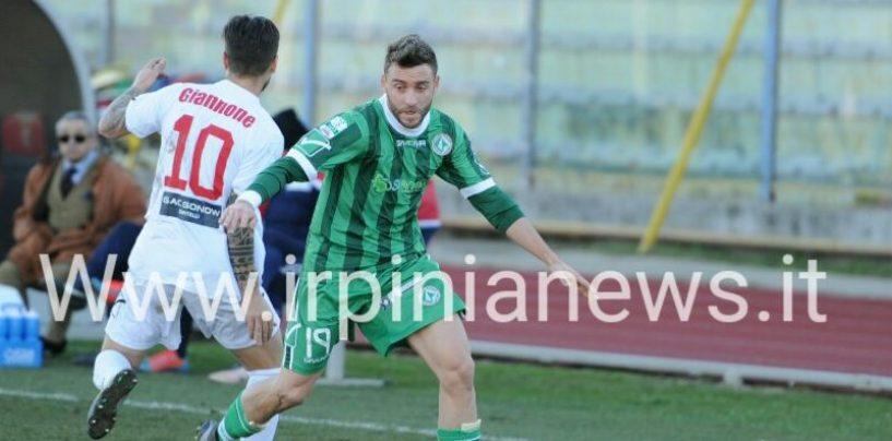 Avellino scarico al derby: la Casertana fa il pieno con Giannone