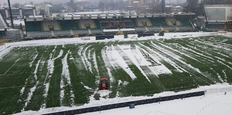 Avellino Calcio – Novellino contro la neve: lupi in campo al gelo