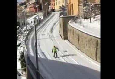 VIDEO/ Ad Ariano Irpino si scia su circuito cittadino
