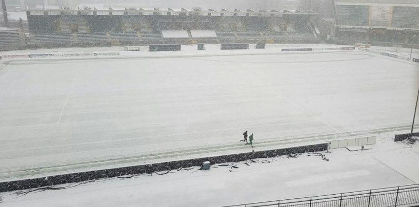 Neve e gelo: Burian sferza l'Avellino e ghiaccia la Serie B
