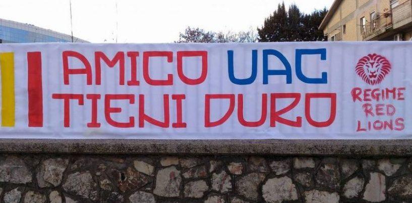 Tifosi colpiti da Daspo, la solidarietà del Regime Red Lions di Grotta
