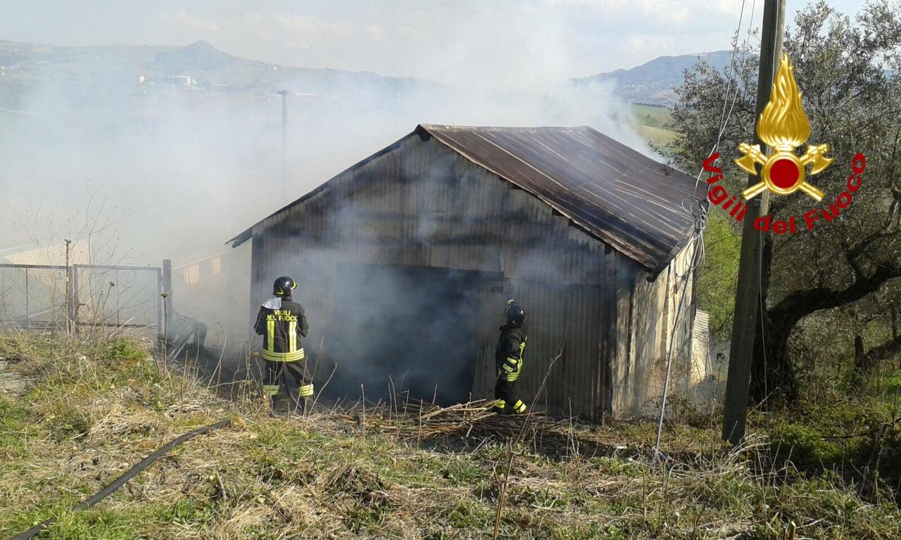 In fiamme un deposito di legna intervengono i caschi for Piano di deposito