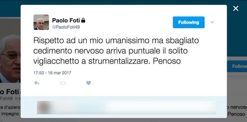 """Lo sfogo di Foti, il sindaco di Avellino replica: """"Ho sbagliato ma…"""""""