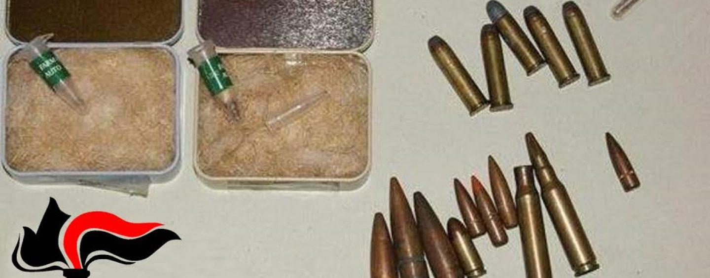 Montoro, droga e munizioni in casa: arrestato 40enne