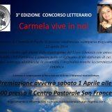 """Ariano Irpino, terza edizione concorso letterario """"Carmela vive in noi"""""""