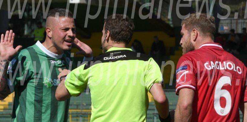Perugia-Avellino tre anni dopo con lo stesso arbitro