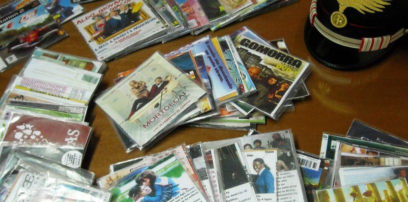 Maxi sequestro di dvd contraffatti, denunciato un 45enne di Baiano
