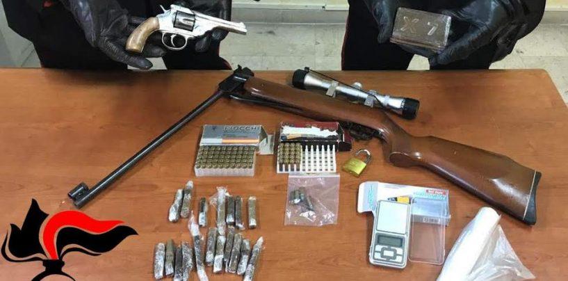 Nascondevano droga e armi in cantina: indagano i carabinieri