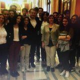 """Gli studenti del """"De Sanctis"""" in visita in Parlamento: incontro con l'On. Luigi Famiglietti"""