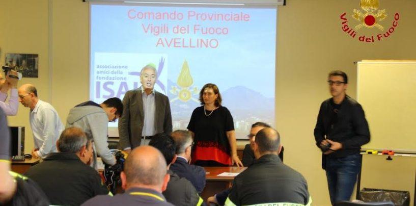 Donato un defibrillatore al Comando Provinciale dei Vigili del Fuoco