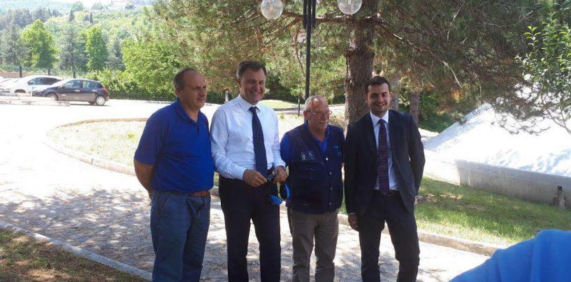 """Emergenza idrica, Carlo Sibilia (M5S) visita la centrale idrica di Cassano: """"Un merito alle maestranze di Acs"""""""