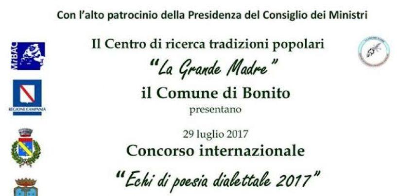 """Grande attesa a Bonito per la premiazione del concorso """"Echi di poesia dialettale 2017"""""""