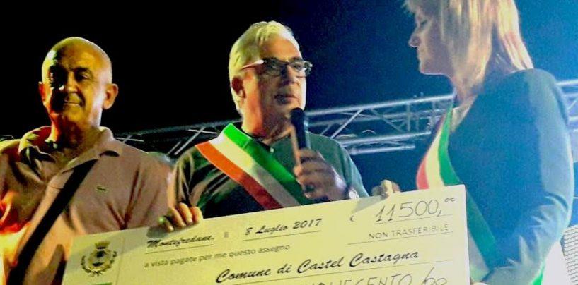 """Montefredane solidale, i soldi della """"Sagra del Fusillo e del Pezzente"""" al Comune terremotato di Castel Castagna"""