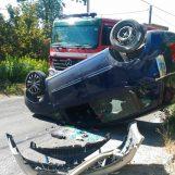 Santo Stefano del Sole, auto sbanda e si ribalta: tre feriti