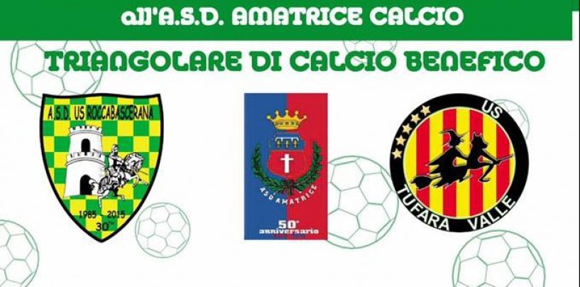 Un gol per Amatrice, a Roccabascerana il triangolare di solidarietà