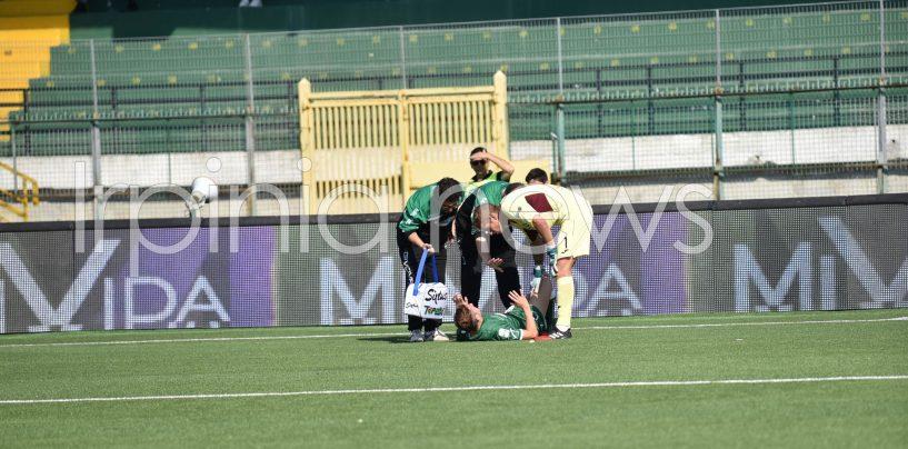 Avellino Calcio – Morosini, è rottura del crociato