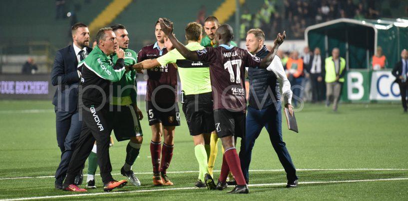 Avellino-Salernitana, le decisioni del giudice sportivo