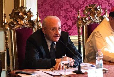Il Governatore De Luca ad Avella per sostenere D'Agostino e Famiglietti