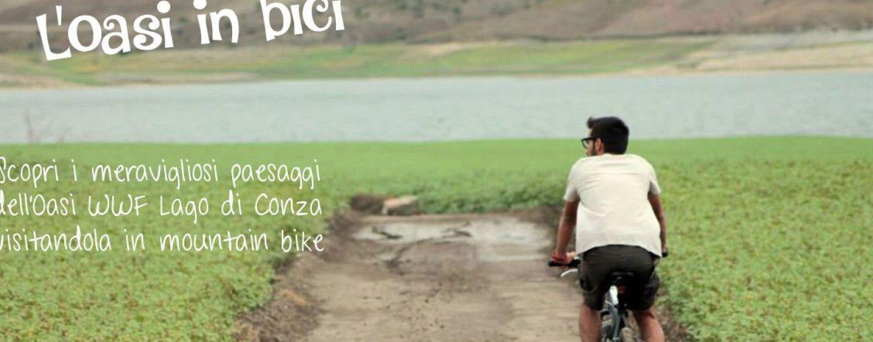 Oasi Lago di Conza, l'autunno è dedicato alle passeggiate in bici