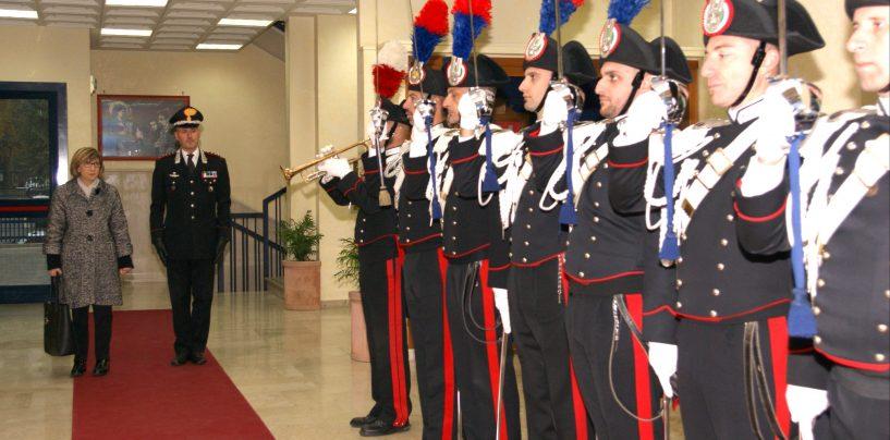 Avellino, visita del Prefetto Tirone al Comando provinciale dei Carabinieri