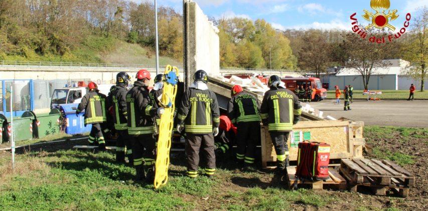 Esercitazione Vigili del Fuoco di Avellino, le foto
