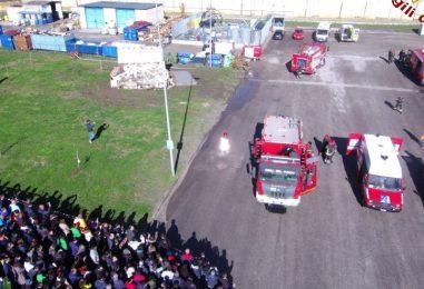 FOTO/ Terremoto e incendio di condotta del metano, maxi esercitazione dei caschi rossi irpini