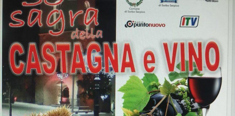 Al via la 35esima Sagra di Castagne e Vino a Sorbo Serpico